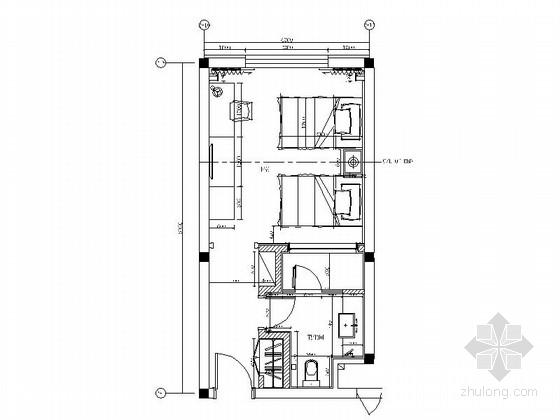 [青岛]特色禅意酒店新中式标准间装修施工图(含效果)