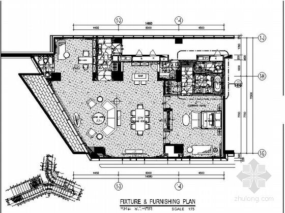 [深圳]某国际大酒店套房室内施工图(含效果图)