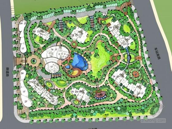 [杭州]花园式生态居住区景观概念设计方案图片