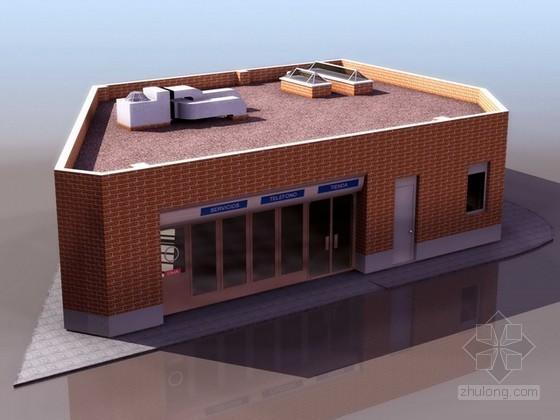 现代建筑商铺3d模型下载