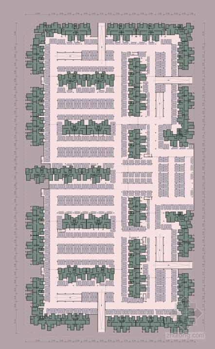 [成都]纯净主义风格高层住宅区规划设计方案文本-纯净主义风格高层住宅区规划平面图