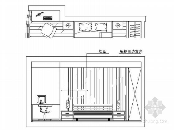 [无锡]滨湖知名地产现代五居室装修图(含效果)男孩房立面图