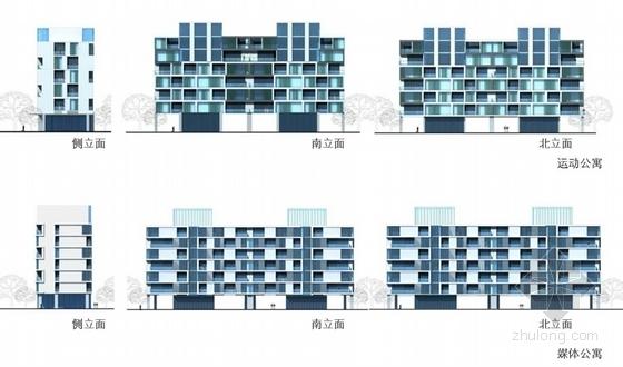 单体建筑立面图