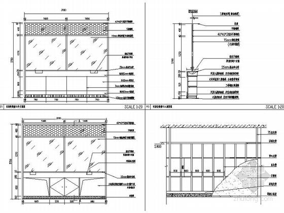 [银川]交通便利配套设施齐全大型家居建材主题购物中心施工图 立面图