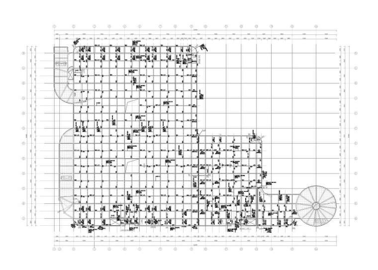 [上海]主题公园3层框架结构立体停车库建筑结构施工图(2015)