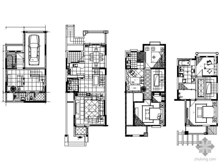 [河南]地中海风格联排别墅装修图