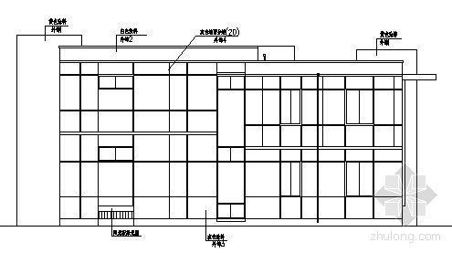 北京某二层别墅区单体建筑设计图1