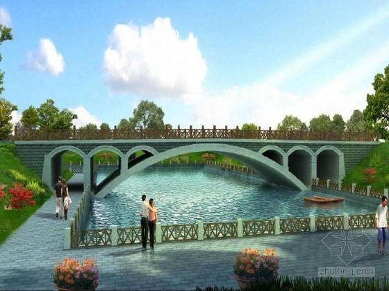 U桥台台后排水设计图资料下载-[河北]一跨1-18米钢筋混凝土空腹式无铰拱桥设计图及计算报告