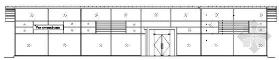 佛山市某单层汽车展厅建筑方案图