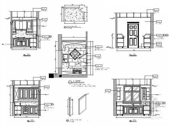 别墅中式厨房详图