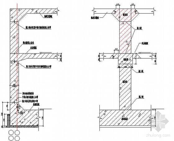 北京某火车站地下室底板模板施工方案(砖胎膜  小钢模)