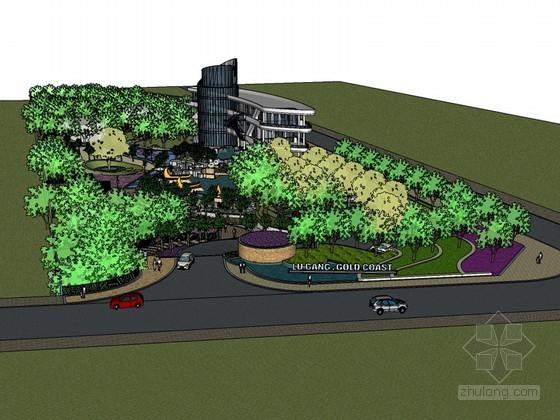 建筑景观绿化SketchUp模型下载