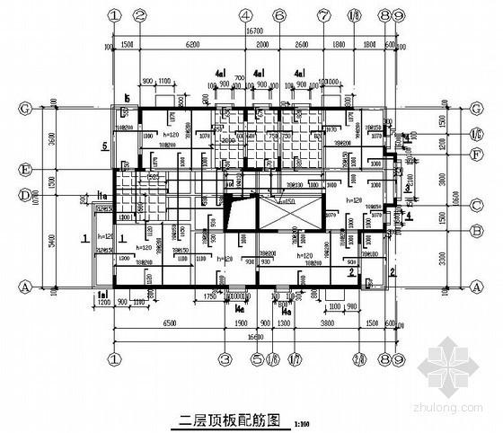 剪力墙结构私人自建别墅结构施工图(三层 坡屋顶 条形基础)