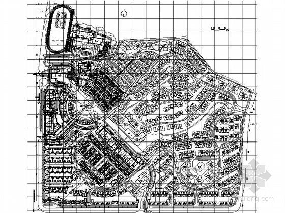 [深圳]万科某多层住宅区规划总平面图