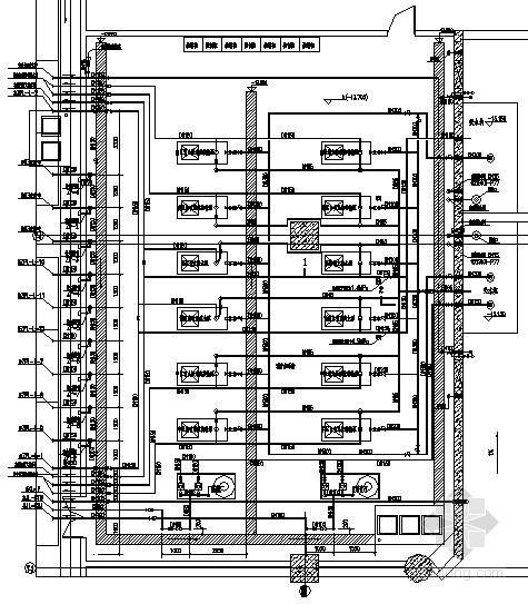 机房大样图(含洗衣泵房、消防泵房、给水泵房)