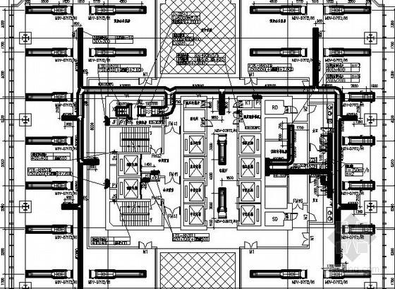 VRV中央空调系统施工资料资料下载-[深圳]大型商务中心中央空调及通风防排烟系统设计施工图334张
