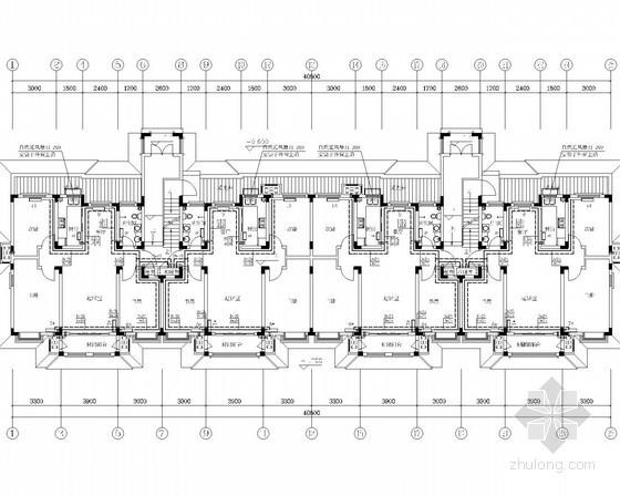 [山东]多层居住区办公建筑采暖系统设计施工图