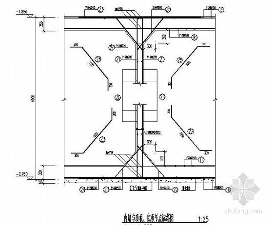 办公楼附属水池结构施工图