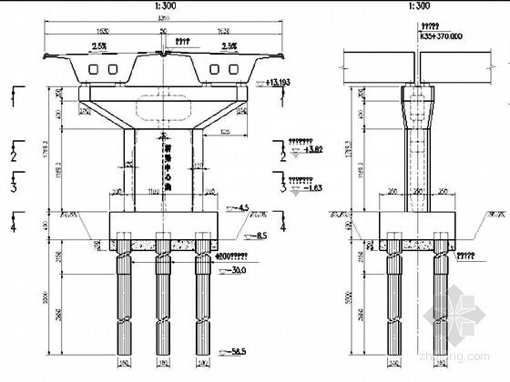 [广东]跨海大桥预应力混凝土连续箱梁桥下部结构施工图71张(钢管复合桩)