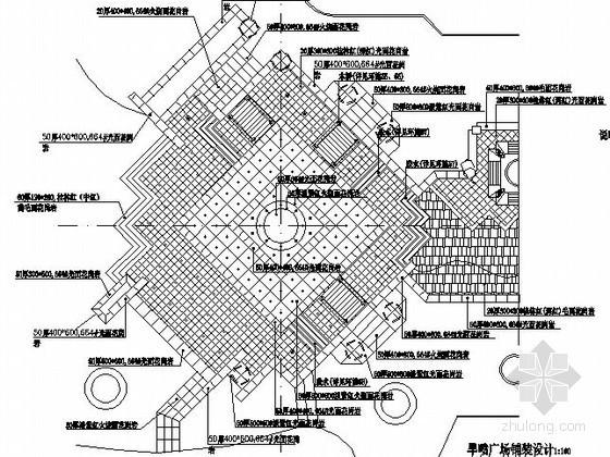 [武汉]某旱喷广场景观工程施工图
