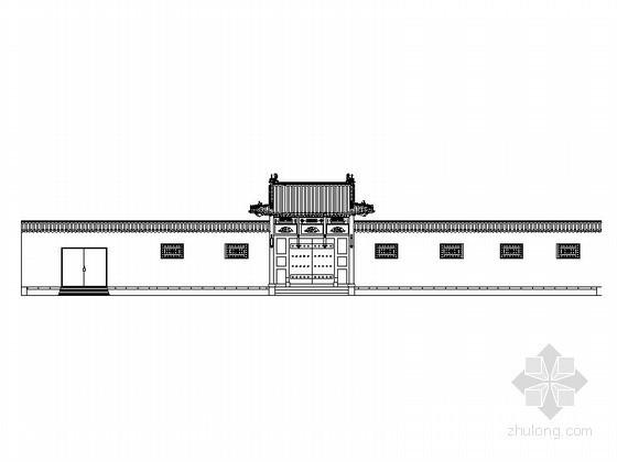 [山西]某仿古建筑四合院建筑施工图