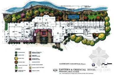 国际著名景观设计公司手绘小区方案