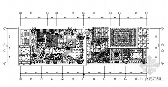 [施工图]别墅屋顶花园景观工程施工图全套