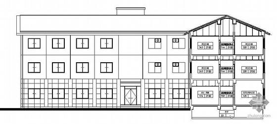 [威海]某高档高尔夫俱乐部建筑结构施工图(包括茶室、会所、餐厅、别墅)