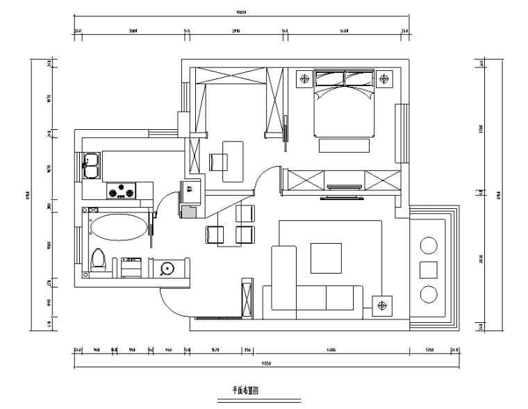[江苏]现代简约65平小公寓设计施工图(附效果图)