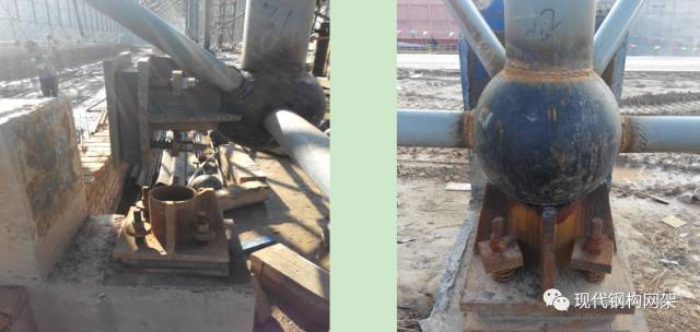 大跨度煤棚焊接球网架液压顶升施工技术_19
