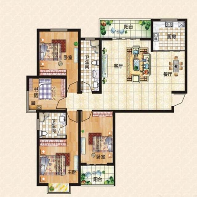 上东城144平方四室两厅现代简约装修效果图