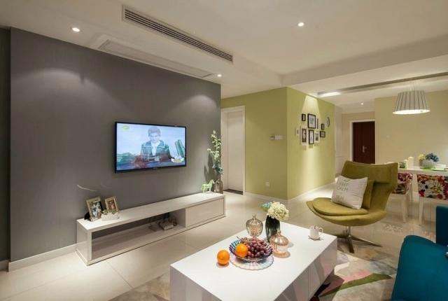 审美提升且看现代简约风格设计客厅电视墙效果图