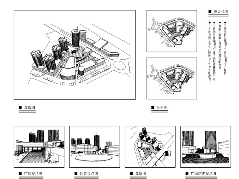 某市中心区城市规划设计图纸