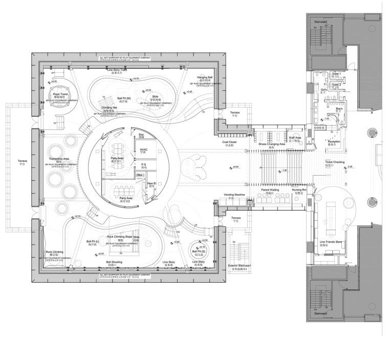 现代梦幻儿童体验区及商业配套设计施工图(附效果图)-30