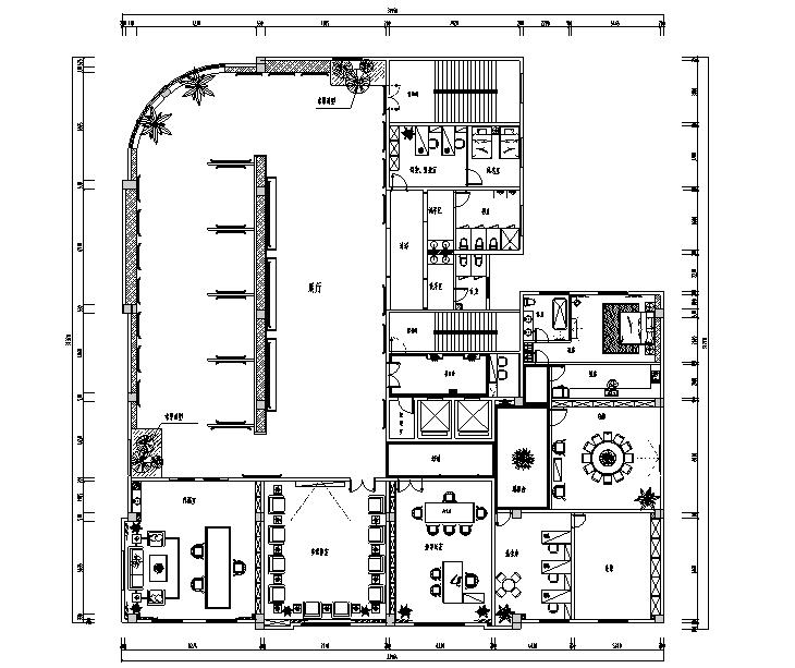 中式风格高档会所设计施工图(附效果图)