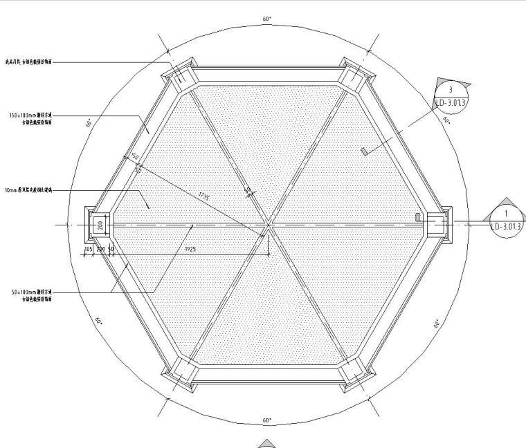 特色六角亭子详图设计——泛亚景观