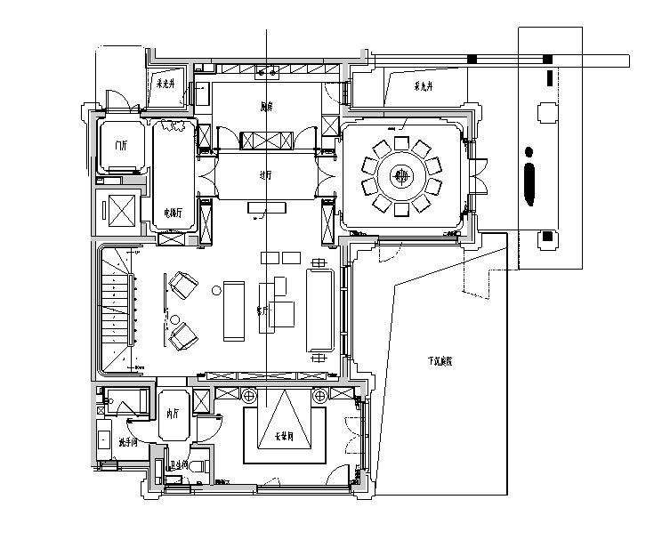 [北京]中式风格别墅室内设计施工图(效果图+实景图+方案)