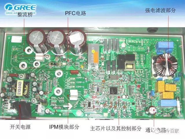 变频空调电路板原理与元器件的识别