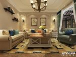 天伦锦城-140平三居-美式风格装修效果图