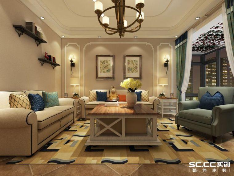 天伦锦城-140平三居-美式风格装修效果图-1.jpg