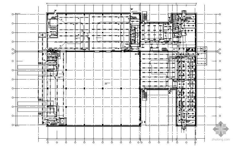 北京市某外资企业三层生产厂房电气全套施工图(英汉对照)