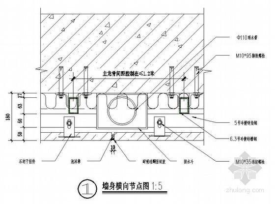 整套干挂石材节点详图(12个)