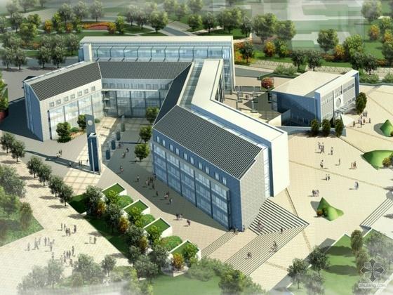 [重庆]某大学虎溪校区综合楼建筑设计方案文本(A1、A3)
