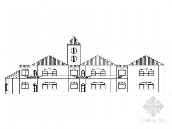 2层简欧风格幼儿园建筑设计施工图