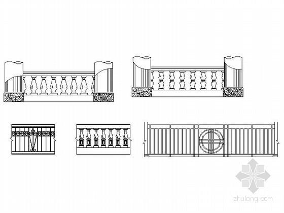 全套楼梯及栏杆CAD图块下载