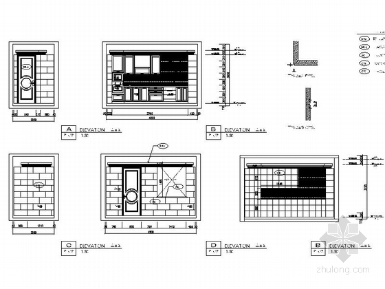 [大连]精装修三室两厅样板间室内装修图 立面