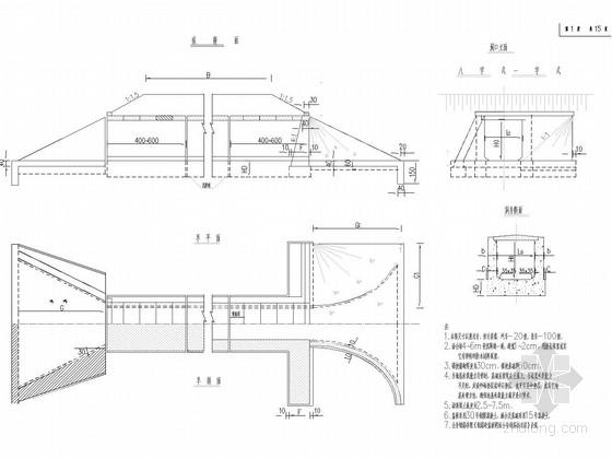 [福建]填土高度4.5~7.5m盖板涵通用图