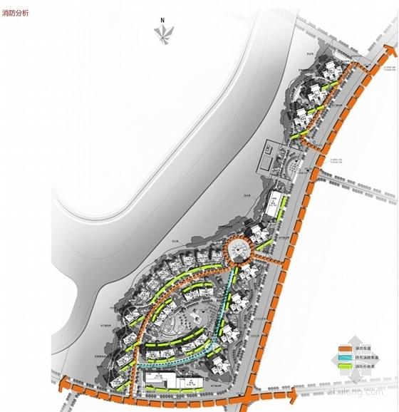 [成都]现代风格高层住宅及联排别墅区规划设计方案文本-现代风格高层住宅及联排别墅区规划分析图