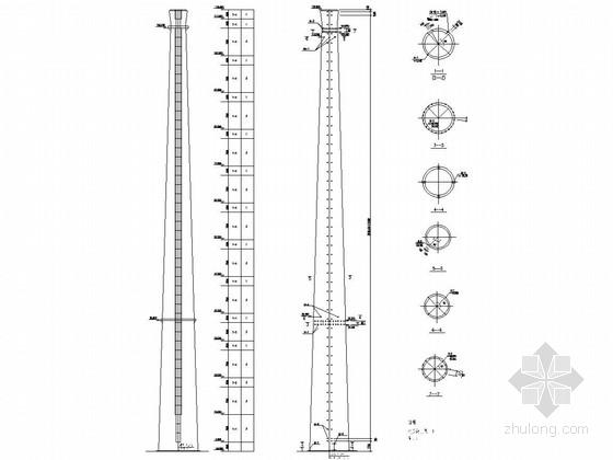 120米混凝土烟囱结构施工图