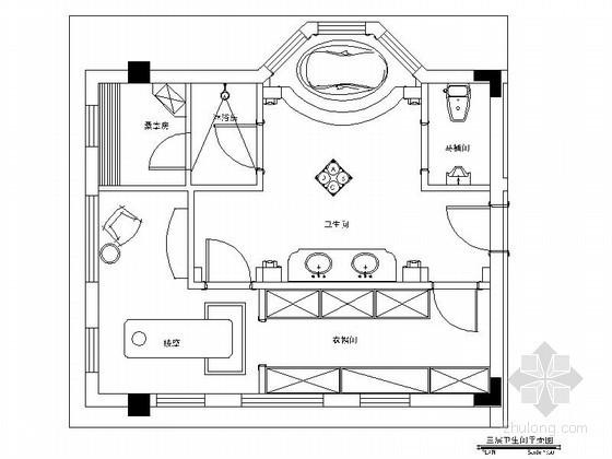 超级豪华别墅卫浴室内设计装修图